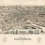 PERSPECTIVE MAP OF THE CITY OF ROANOKE, VA. 1891. Milwaukee: American Publishing Co., 1891.