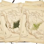 Spread of maps from Charles Sprague Sargent thematic atlas of North American forests