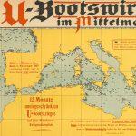 """[ U-boat ] U-Bootswirkung im Mittelmeer [:] 12 Monate uneingeschränkten U-Bootskrieges auf dem Mittelmeer-Kriegsschauplatz. [""""The Effect of Submarines in the Mediterranean [:] 12 Months of Unrestricted Submarine Warfare in the Mediterranean Theatre""""]. Germany: Admiralstab der Marine, [late 1917/early 1918.]"""